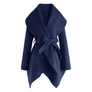 Zulily Cellabie Navy Sidetail Trench Coat